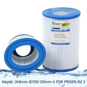 Bilde av Spafilter 30 sq. ft. u/ gjenger, vaskbart, oval (4pk - spar 25%)