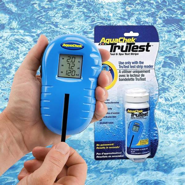 Aquachek Trutester, digital vanntester (klor, pH, Alkal.)